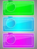 Reeks kleurrijke stickers Stock Foto