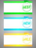 Reeks kleurrijke stickers Stock Fotografie