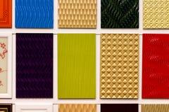 Reeks kleurrijke tegels Royalty-vrije Stock Fotografie