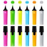 Reeks kleurrijke tellers Stock Fotografie