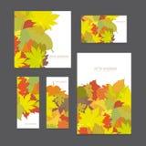 Reeks kleurrijke vector heldere malplaatjesachtergronden voor ontwerpprojecten Royalty-vrije Stock Afbeelding