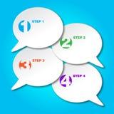 Reeks kleurrijke vectorstickers van de steekproefoptie Stock Afbeeldingen
