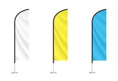 Reeks kleurrijke veervlaggen vector illustratie