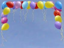 Reeks kleurrijke verjaardag of partijballons Royalty-vrije Stock Foto's