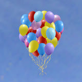 Reeks kleurrijke verjaardag of partijballons Stock Foto
