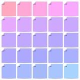 Reeks kleurrijke vlakke etiketten met gekrulde hoeken Royalty-vrije Stock Afbeelding