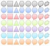 Reeks kleurrijke vormen Stock Afbeeldingen