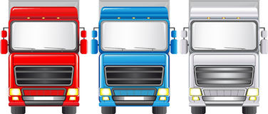 Reeks kleurrijke vrachtwagens Royalty-vrije Stock Foto