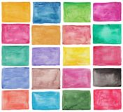 Reeks kleurrijke waterverfpaletten Royalty-vrije Stock Fotografie