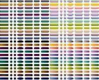Reeks kleurrijke Webknopen Stock Afbeelding
