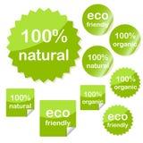 Reeks kleverige pictogrammen van het ecoweb Stock Foto's