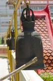 Reeks klokken in Thaise tempel Royalty-vrije Stock Fotografie