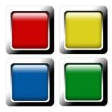Reeks knopen van het kleurenWeb Stock Fotografie