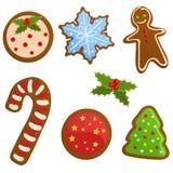 Reeks koekjes van Kerstmis Stock Foto