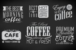 Reeks koffieetiketten Royalty-vrije Stock Afbeelding