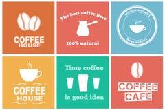 Reeks koffieetiketten Royalty-vrije Stock Fotografie