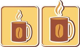 Reeks koffiekoppen Stock Afbeeldingen