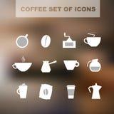 Reeks koffiepictogrammen Royalty-vrije Stock Fotografie