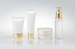 Reeks kosmetische containers Royalty-vrije Stock Fotografie