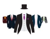 Reeks kostuums Royalty-vrije Stock Afbeeldingen