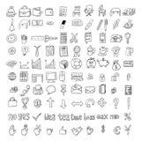 Reeks krabbel bedrijfs geplaatste pictogrammen Royalty-vrije Stock Foto's