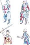 Reeks kruisvaarders stock illustratie