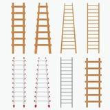 Reeks ladders. Royalty-vrije Stock Afbeelding