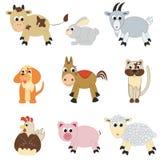 Reeks landbouwbedrijfdieren Stock Afbeelding