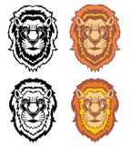 Reeks leeuwenhoofden royalty-vrije illustratie