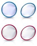 Reeks lege cirkel en ovale embleemshells Royalty-vrije Stock Fotografie