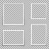 Reeks lege fotokaders met schaduw stock illustratie