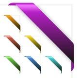 Reeks Lege kleurrijke hoeklinten Stock Foto