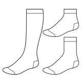 Reeks lege sokken Stock Foto's
