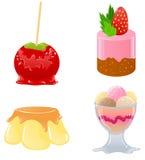 Reeks leuke desserts Stock Fotografie