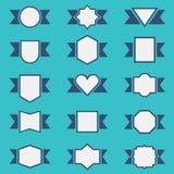 Reeks leuke die lintkentekens in verschillende vormen worden geplaatst Royalty-vrije Illustratie