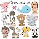 Reeks leuke dieren vector illustratie