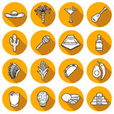 Reeks leuke hand getrokken pictogrammen van het schaduwoverzicht  Royalty-vrije Stock Foto
