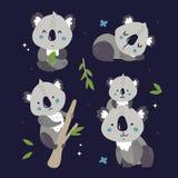 reeks leuke koala's royalty-vrije stock afbeelding