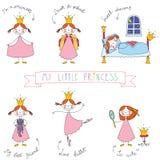 Reeks leuke prinsessen Royalty-vrije Stock Afbeeldingen