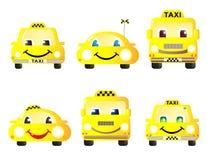 Reeks leuke taxiauto's Stock Afbeelding