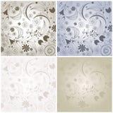 Reeks leuke uitstekende bloemenachtergronden Royalty-vrije Stock Afbeelding