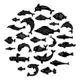 Reeks leuke vissen vector illustratie