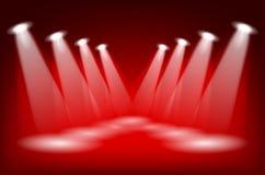 Reeks lichten met koplampstralen Stock Foto's