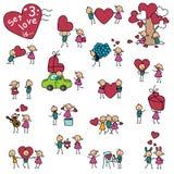 Reeks 3, liefde is vector illustratie