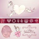 Reeks liefde vectorelementen Royalty-vrije Stock Afbeelding