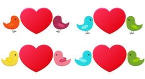 Reeks liefdevogels Royalty-vrije Stock Afbeeldingen