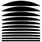 Reeks lijnen met verschillend niveau van misvorming Samenvatting geome stock illustratie