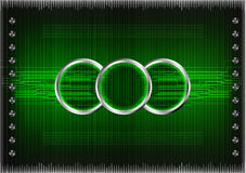 Reeks lijnen op een groene achtergrond Stock Foto