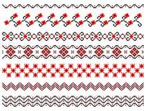 Reeks lijnen van het borduurwerkpatroon Royalty-vrije Stock Afbeelding