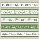 Reeks Linten Abstract bloemenpatroon vector illustratie